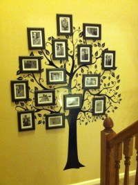 Family Tree - Wall Decal and picture frames...super easy ...