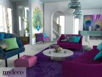 Peacock Colored Living Room Decor | For the Home ...