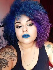 dyed natural hair trending