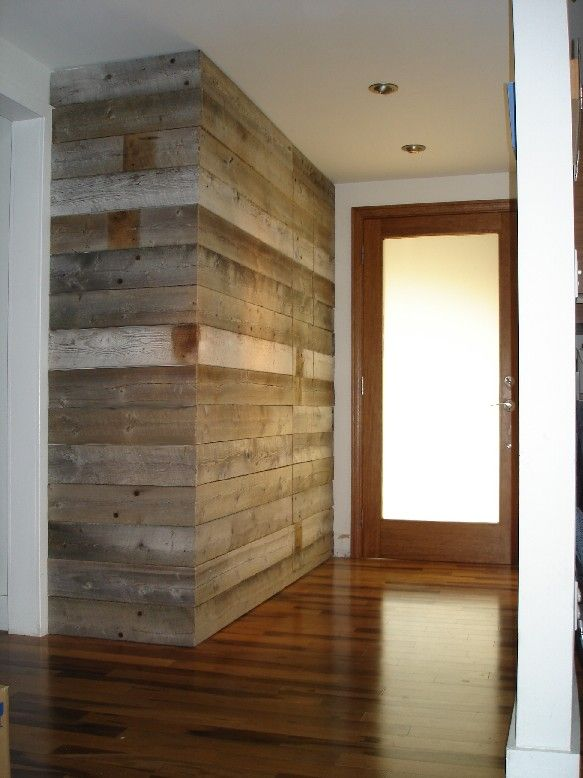 Loving the Barn Wood accent wall  decor and such