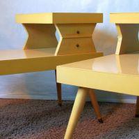 antique 50's furniture | ATOMIC END TABLES Vintage 50s Mid ...