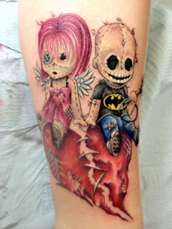 creepy dolls. killer ink. tattoo