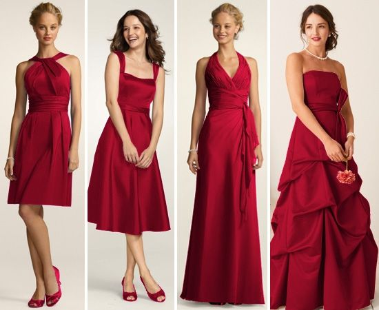 Bridesmaids Dresses That Coordinate AND Show Their Own