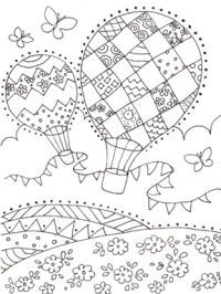 1000+ images about Coloring Pages (Balloons & Kites) on