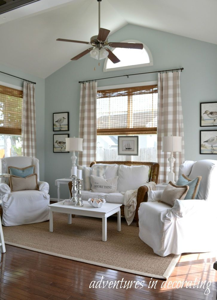Turn Any Room Into A Sunny Beach House Paint Colors Wood Trim And Natural Wood Trim