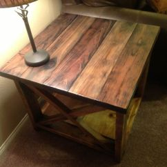 Cheap Side Tables For Living Room Paint Ideas With Vaulted Ceilings Best 25+ Rustic End On Pinterest | Wood ...