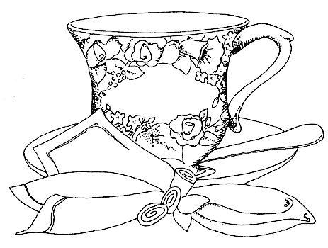 Vintage Teapot Coloring Pages Sketch Coloring Page