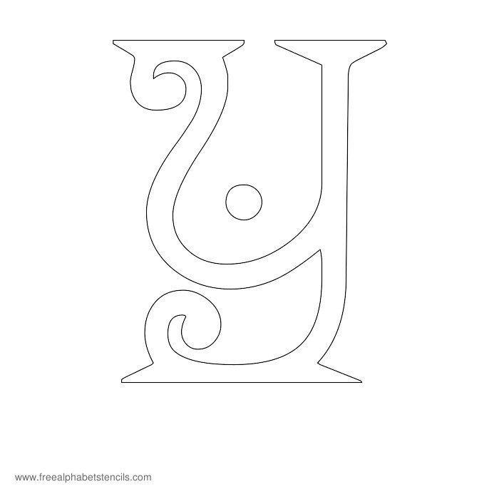 25+ best ideas about Alphabet stencils on Pinterest