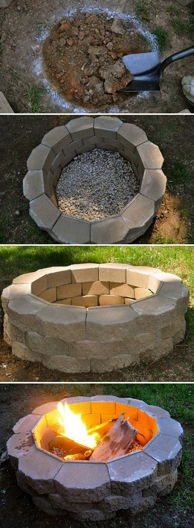 DIY Fire Pit on a budget   ……………Follow DIY Fun Ideas at www.facebook.com/… for tons more great projects!