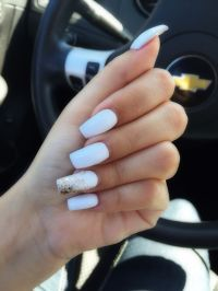Best 25+ White acrylic nails ideas on Pinterest