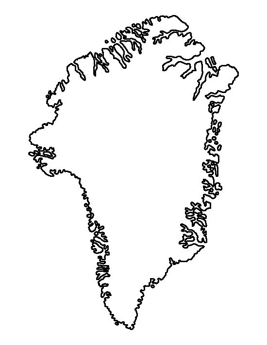 Greenland pattern. Use the printable outline for crafts