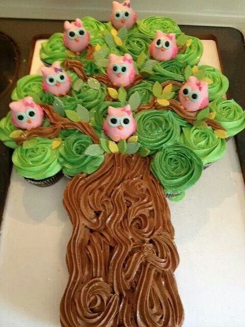 8. Pull Apart Owl Cupcake Cake – 50 of the Cutest Cupcakes Youll Ever See … → Food