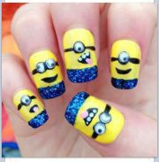 minions acrylic nail design