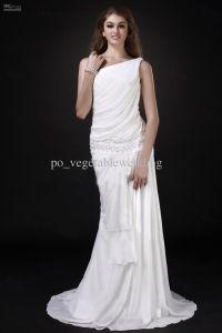 Vintage Beach Wedding Dress Greek Goddess Ruffle One ...
