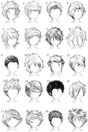 male hair draw
