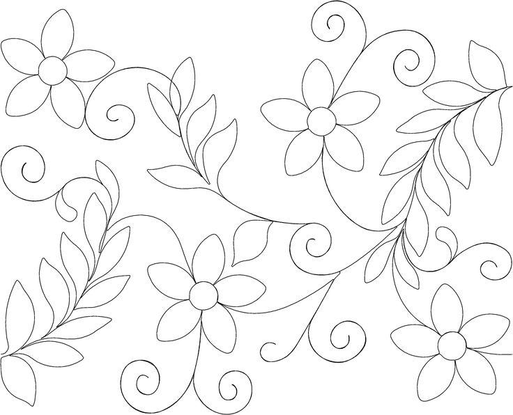 160 Best Images About 5 Floral Longarm Quilt Patterns On