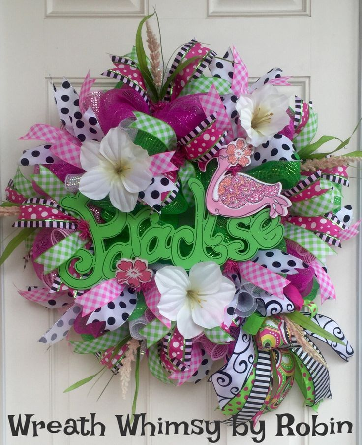 17 Best Images About SpringSummer Wreaths On Pinterest