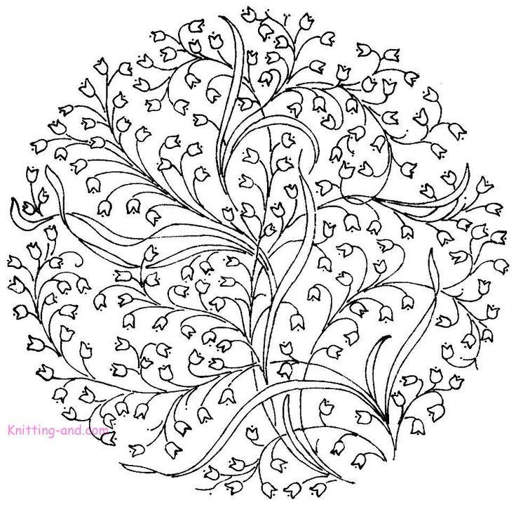 Free flower design, I imagine french knots, satin or long