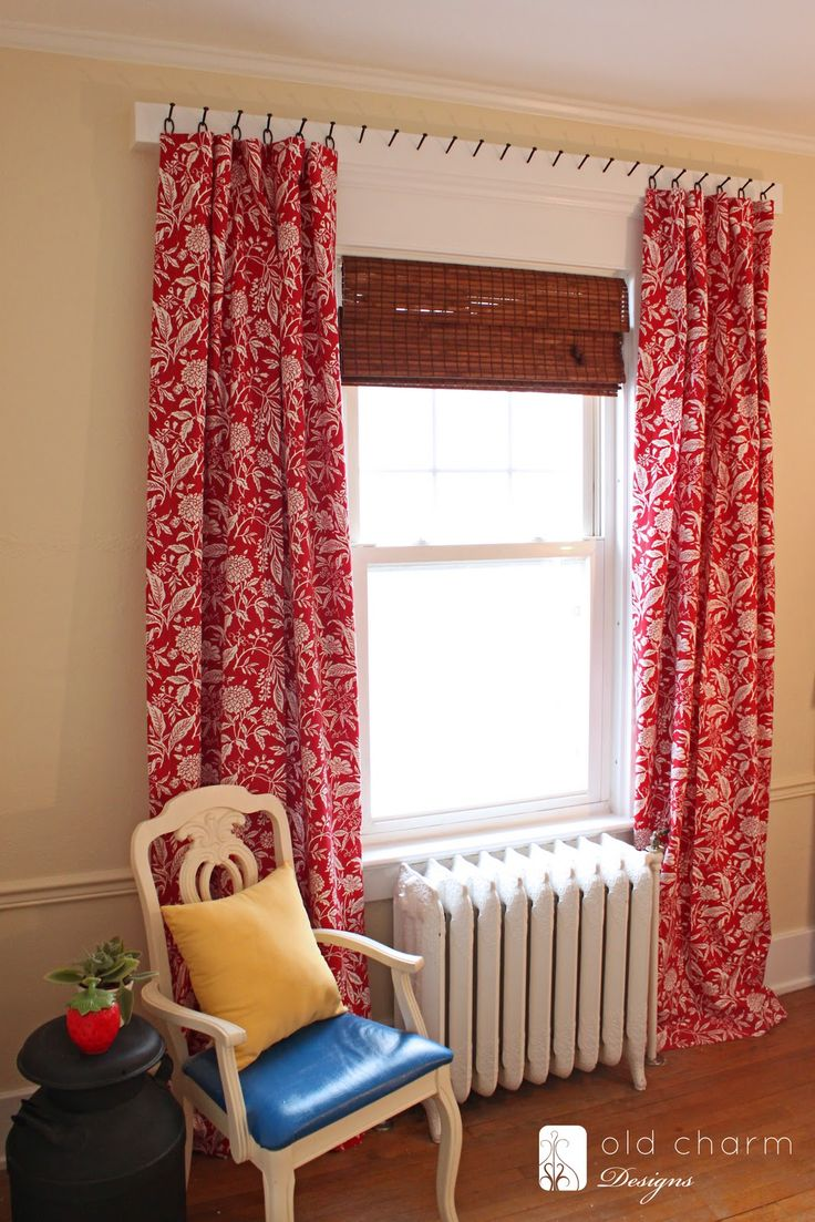 1000 ideas about Hanging Curtain Rods on Pinterest