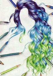 wow amazing drawing hair