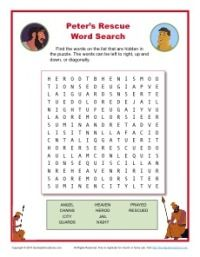 Peters Rescue Printable Word Search Activity Craft