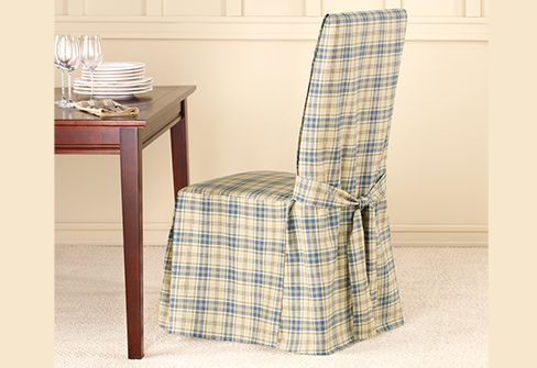 parsons chairs with skirt folding chaise lounge chair plastic lexington plaid dining covers | fun slipcover patterns pinterest shops, ...