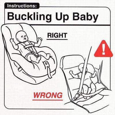 Don't strap your baby into a regular seat and seatbelt