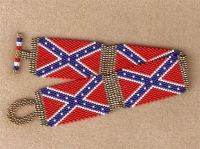 Confederate Rebel Flag Bracelet by beaderrific on Etsy ...