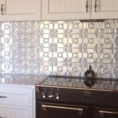 Tile Backsplash Ideas For Kitchen Burgundy Rugs This Is A Pressed Metal Splashback In The Evans Design ...