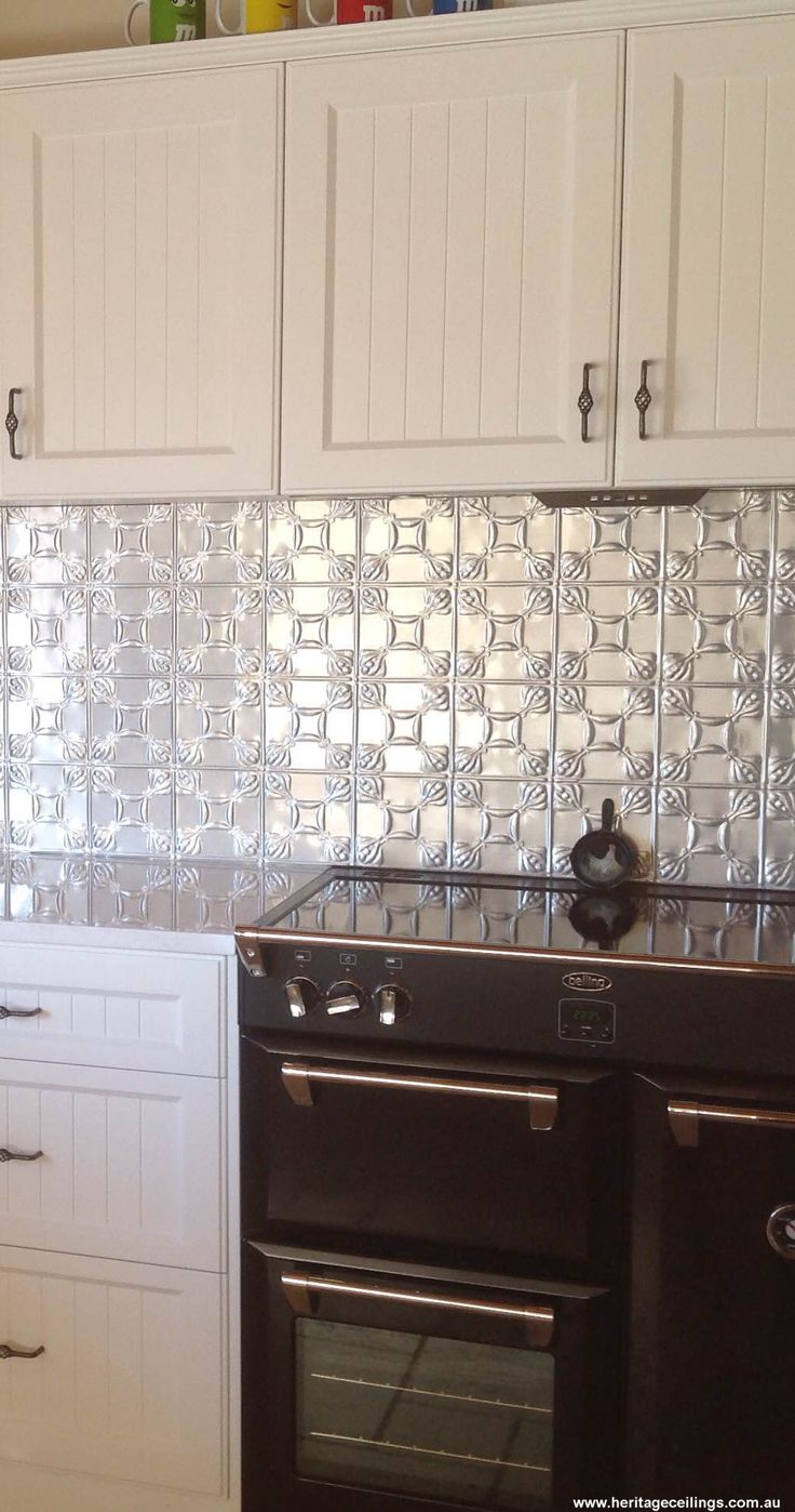 kitchen backsplash tile designs pan set this is a pressed metal splashback in the evans design ...