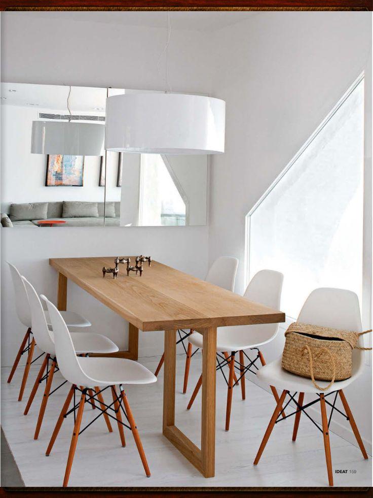 Salle  manger et table en bois sur mesure chaises esprit scandinave  Dco  Ides pour la