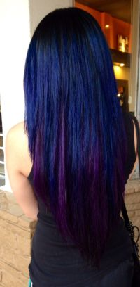 Black, Blue, and violet hair | Hair and beauty | Pinterest ...