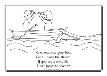Row, Row, Row Your Boat colouring sheets (SB8331