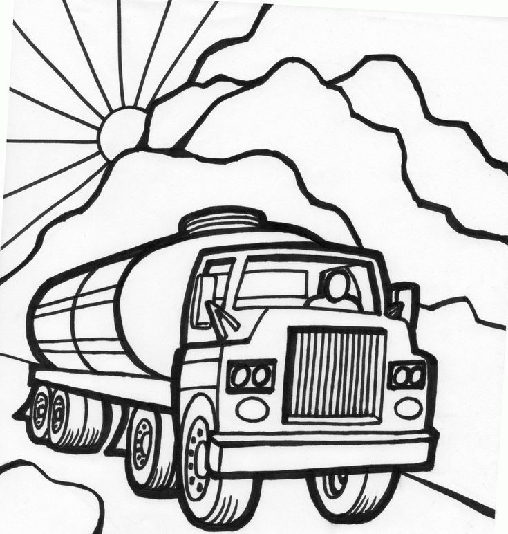 tanker truck coloring page fast car coloring page monster