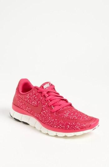 Pink animal print Nike running shoes; pink and animal print, AND Nike?? These we