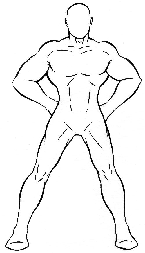 Super Hero Costume Sketch Templates superhero templates