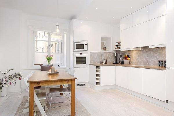 scandinavian white kitchen White Scandinavian kitchen. #minimalist | Dining and