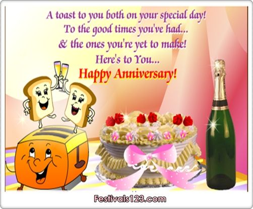 Happy Anniversary Greetings   Cards Funny Cards Cute