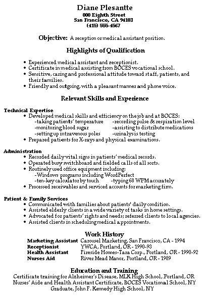 24 Amazing Medical Resume Examples Livecareer. Example Of Medical