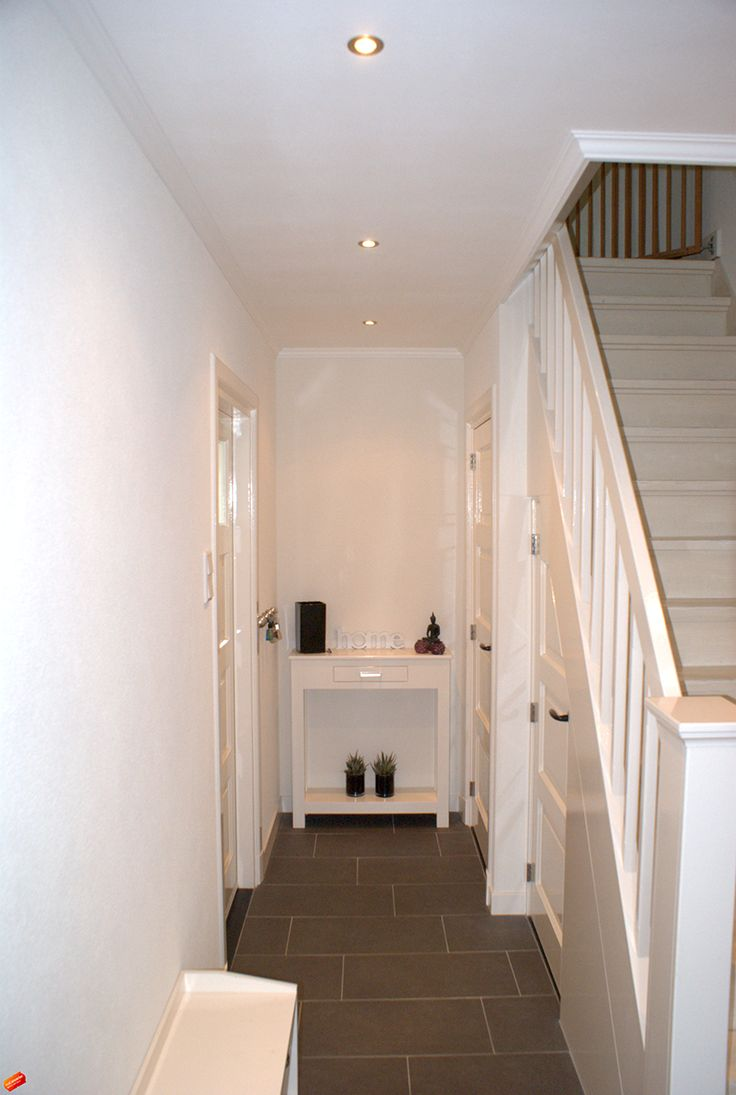 Indeling gang Zowel meterkast als WC onder de trap
