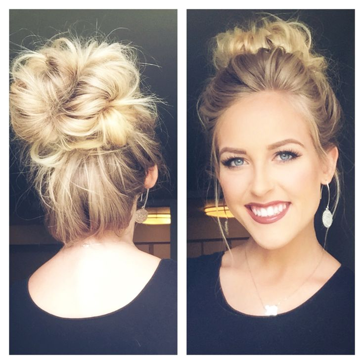 25 Best Ideas About Cute Bun Hairstyles On Pinterest Cute