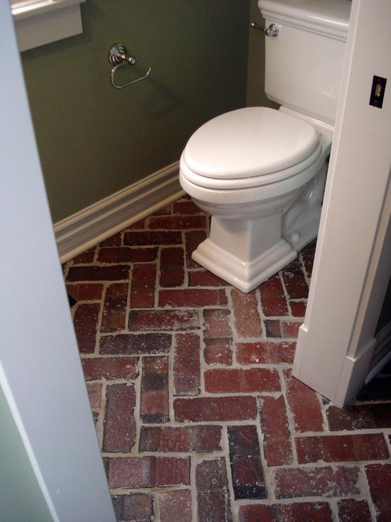 brick flooring  herringbone pattern Double love