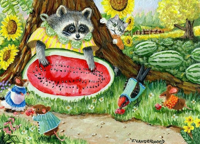 57 Best Images About Raccoon Paintings On Pinterest