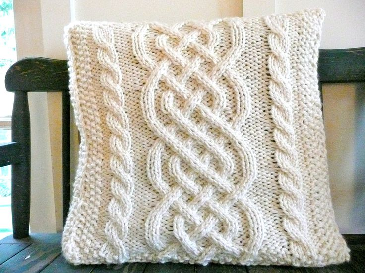 RESERVED FOR MRSTARRANT1  Celtic Weave Knit Pillow Cover