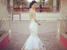 Mexican wedding dress Ana Patricia Gonzalez Adan Terriquez ...