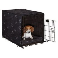 ProSelect Polyester Pawprint Dog Crate Cover and Bed Set ...