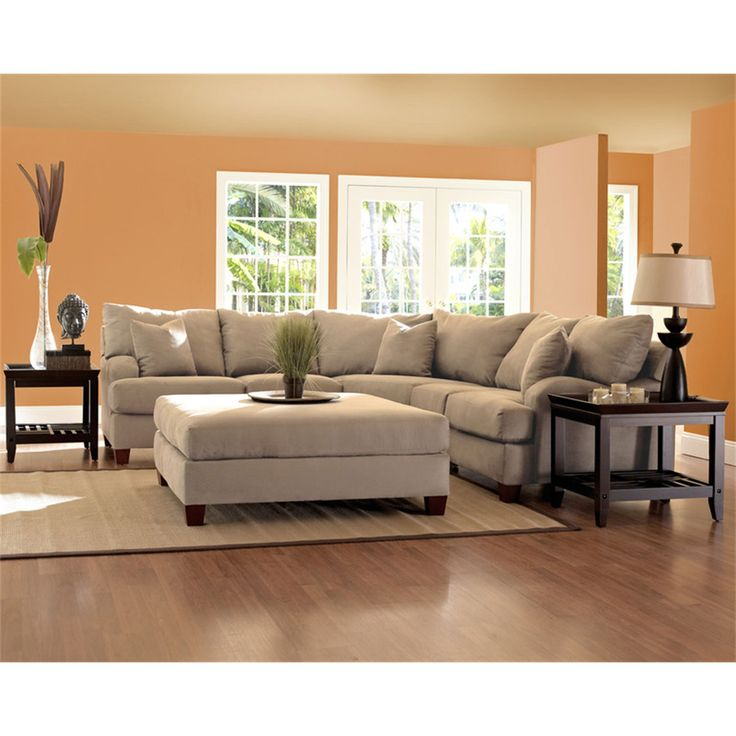 cream colored microfiber sofa upholstered sectional beige | roselawnlutheran