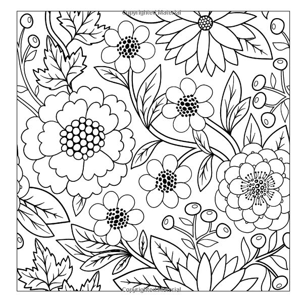 Lilt Kids Coloring Books / Beautiful Floral Designs and