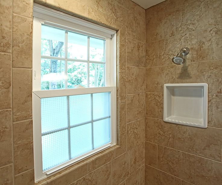 Like the tile around the window and the frosted glass Waterproof and still letting the light in