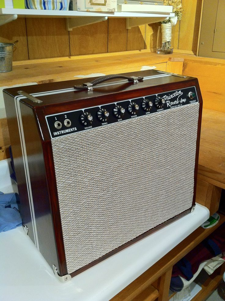modified Fender Princeton Reverb w Custom Cabinet  the